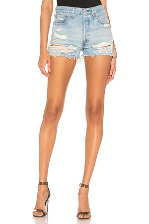 Levi's 501 High Rise Short in - Blue. Size 24 (also in 25, 26, 27, 28, 29, 30, 31).