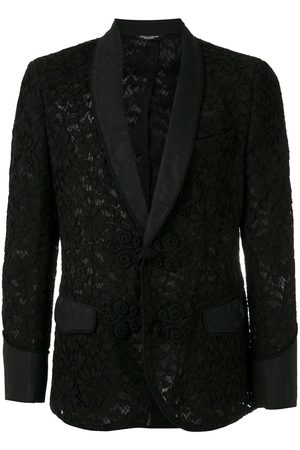 Dolce & Gabbana Uomo Blazer - Blazer in pizzo a fiori