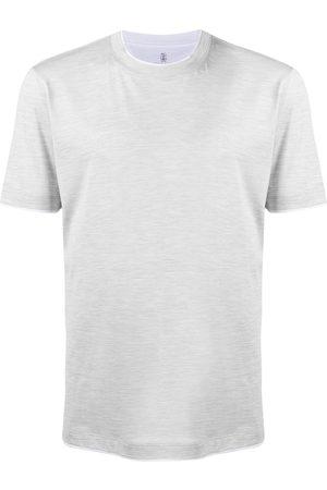 Brunello Cucinelli T-shirt con orlo a contrasto