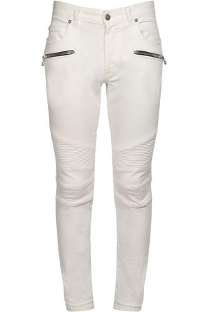Balmain Jeans Slim Fit In Denim Di Cotone