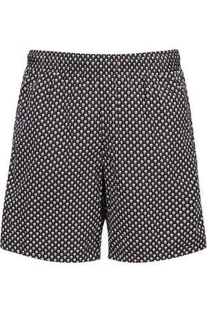 Alexander McQueen Shorts Mare In Nylon Stampato