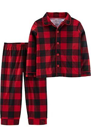 Simple Joys by Carter's 2-Piece Coat Style Pajama Set Sets, Buffalo Check, 2T