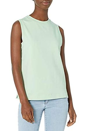 Daily Ritual Terry Cotton And Modal Tank Top Shirts, Celadon, US S