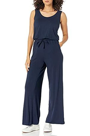 Amazon Sleeveless Scoop-Neck Wide-Leg Jumpsuit Jumpsuits-Apparel, Dainty, 50-52