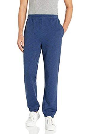 Amazon Closed Bottom Fleece Pant Pantaloni, Navy Space-Dye, L