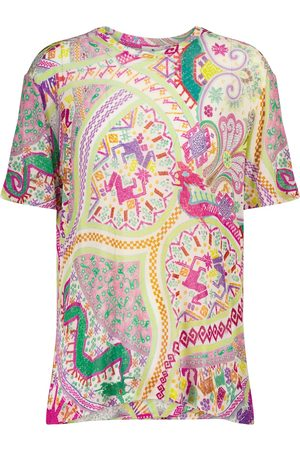 Etro T-shirt a stampa in jersey stretch