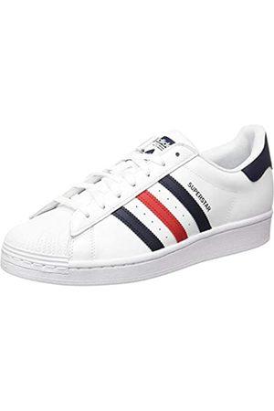 adidas Superstar, Scarpe da Ginnastica Uomo, Ftwr White/Scarlet/Ftwr White, 46 2/3 EU