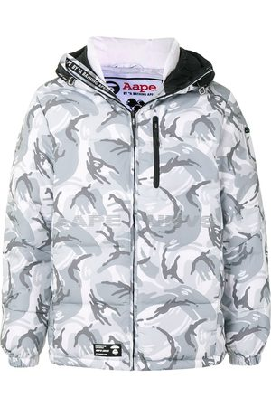 AAPE BY *A BATHING APE® Piumino con stampa camouflage