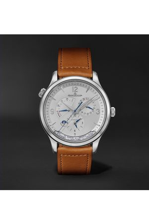 Jaeger-LeCoultre Uomo Orologi - Master Control Geographic Automatic 40mm Stainless Steel and Leather Watch, Ref. No. 4128420