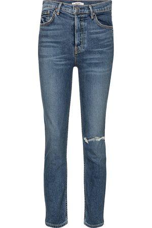 GRLFRND Jeans skinny Reed a vita alta cropped