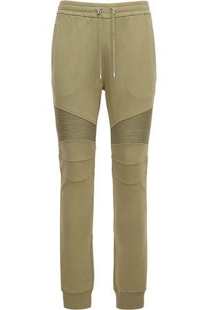Balmain Pantaloni In Felpa Di Cotone Organico