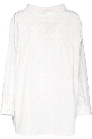Balenciaga Camicia In Popeline Di Cotone