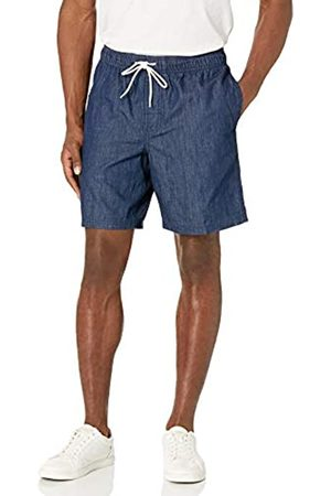 Amazon 20,3 cm Coulisse Walk Short Flat-Front-Shorts, Lavaggio Scuro Chambray, 58-61