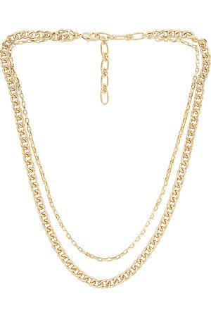 Amber Sceats Layered Chain Necklace in - Metallic . Size all.