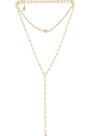 Ettika Layered Lariat Necklace in - Metallic . Size all.
