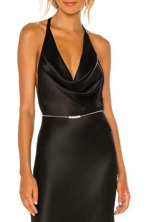 Ettika Donna Cinture - Crystal Bead Belt in - Metallic . Size all.