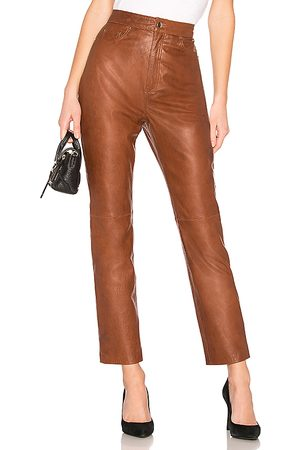 LPA Donna Chinos - Leather Straight Leg Pants in - . Size L (also in S, XXS, XS, M, XL).