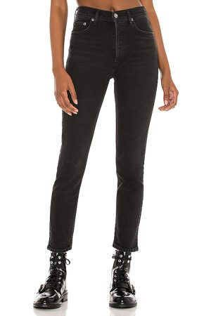 AGOLDE Nico High Rise Slim in - Black. Size 23 (also in 24, 25, 26, 27, 28, 29, 30, 31, 32).
