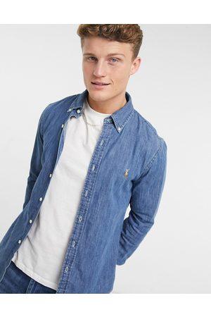 Polo Ralph Lauren Camicia slim di jeans lavaggio medio