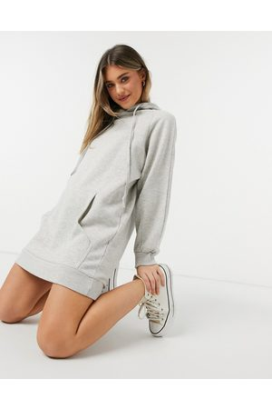 Urban Bliss Vestito felpa con cappuccio chiaro
