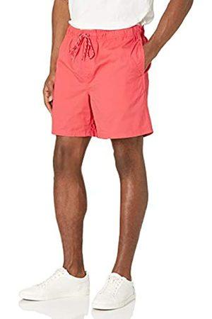 "Amazon Uomo Pantaloncini - 7"" Drawstring Walk Short Flat-Front-Shorts, Corallo, US"