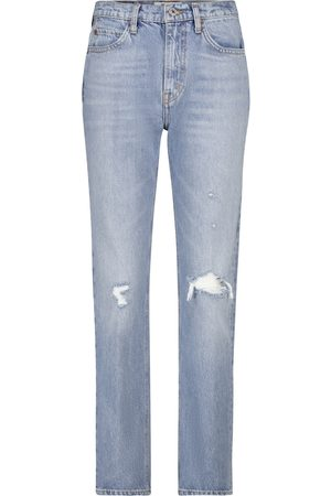 RE/DONE Jeans 70's Straight a vita alta
