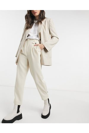 Topshop Pantaloni in twill color crema