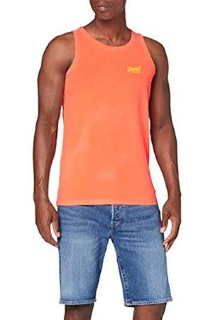 Superdry Ol Neon Lite Vest Vestaglia, Arancione , 3XL Uomo
