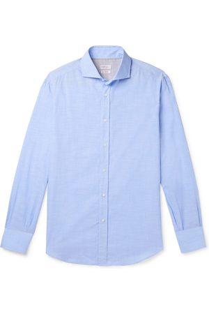 Brunello Cucinelli Uomo Casual - Slub Cotton Shirt