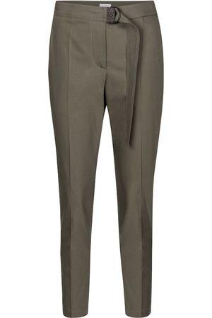 Brunello Cucinelli Pantaloni slim in cotone con cintura