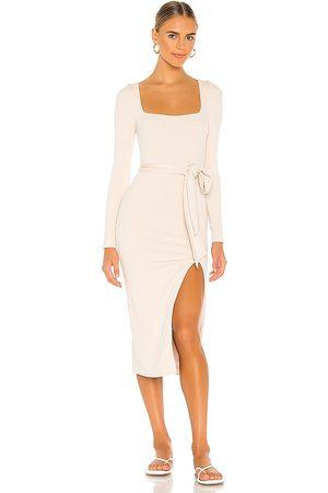 Lovers + Friends Sariah Midi Dress in - Cream. Size L (also in M).