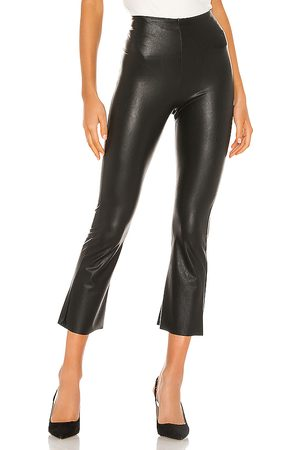 Commando Donna Leggings & Treggings - Faux Leather Cropped Flare Pant in - . Size L (also in S).