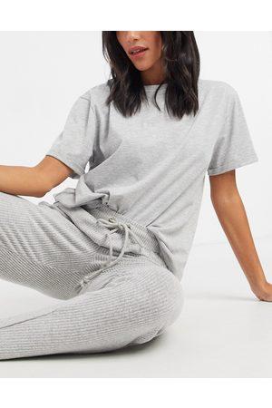 ASOS T-shirt del pigiama mix & match in jersey mélange