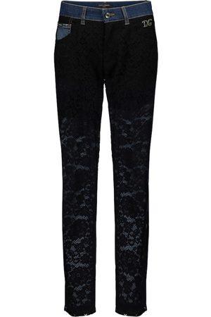 Dolce & Gabbana Jeans slim con pizzo