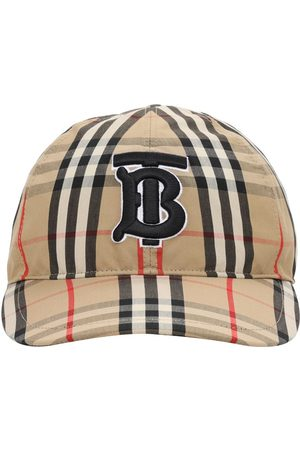 Burberry Cappello Baseball In Tela Di Cotone Check