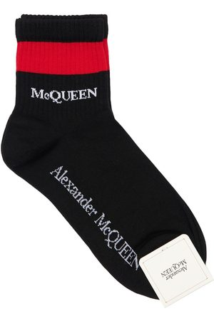 Alexander McQueen Calzini In Misto Cotone Con Logo