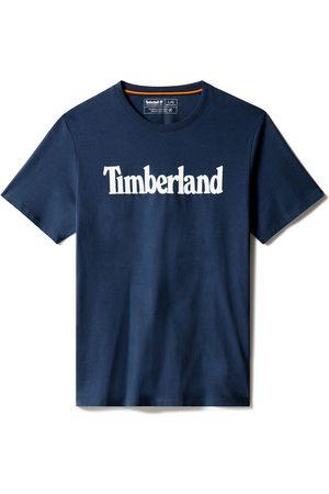 Timberland T-shirt Da Uomo Con Logo Lineare In Scuro Scuro