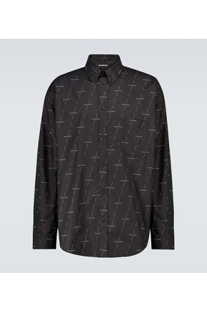 Balenciaga Camicia in cotone con logo