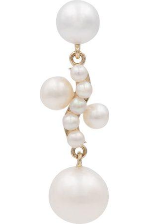 SOPHIE BILLE BRAHE Donna Orecchini - Orecchino singolo Petite Ocean Perle in giallo 14kt con perle