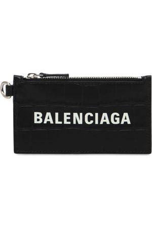 Balenciaga Portafoglio In Pelle Stampa Coccodrillo