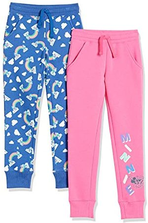 Spotted Zebra Disney Star Wars Marvel Frozen Princess-Pantaloni da Jogging in Pile Pants, Confezione da 2 Topolino Arcobaleno, US 3T