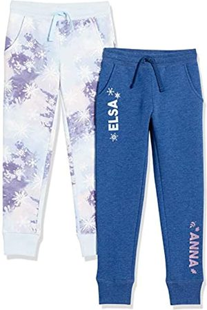 Spotted Zebra Disney Star Wars Marvel Princess-Pantaloni da Jogging in Pile Pants, Confezione da 2 Sorelle Frozen, US S