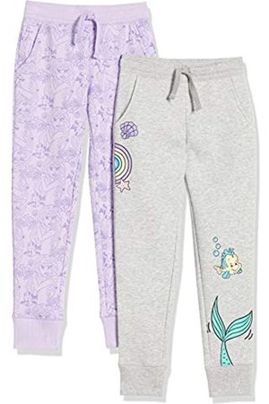Spotted Zebra Disney Star Wars Marvel Frozen Princess-Pantaloni da Jogging in Pile Pants, Confezione da 2 Principessa Ariel, US M
