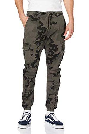 Urban classics Camo Cargo Jogging Pants Pantaloni, , 34W Uomo