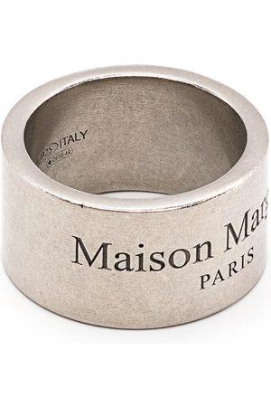 Maison Margiela Anelli - Anello a fascia con logo inciso