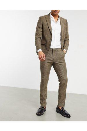 Shelby & Sons Pantaloni da abito slim in twill chiaro