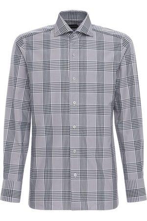 Tom Ford Camicia In Cotone Oxford Check