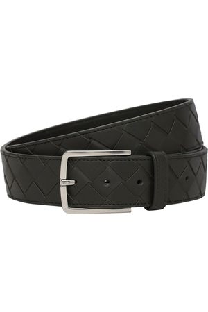 "Bottega Veneta Cintura ""new Intreccio"" In Pelle Con Fibbia 3.5cm"