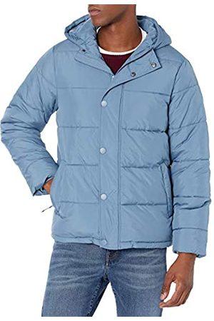 Amazon Heavyweight Long-Sleeve Hooded Puffer Coat Fleece-Outerwear-Vests, Medium Blue, US XXL