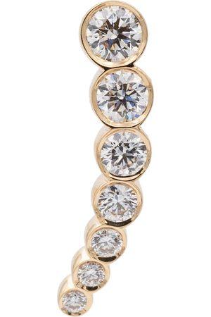 SOPHIE BILLE BRAHE Orecchino singolo Petite Croissant de Lune in 18kt con diamanti